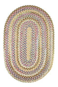 Oval Braided Rugs: Oval Country Jewel Braided Rug, 2' x 3'