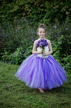 Youth Size 5 to 8  Long Tutu Skirt  Plum by PinkPosieCouture, $45.00