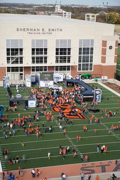 Game Day outside the Sherman E Smith training center - Oklahoma State University vs University of Kansas Football Game, Saturday, November 9, 2013, Boone Pickens Stadium, Stillwater, OK | Flickr ...