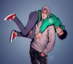 art Spiderman Sketch comics fan art Deadpool Ryan Reynolds Wade Wilson Andrew Garfield digital art peter parker Marvel Green Lantern commission SpideyPool peter x wade