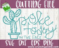Poke Today In The Face Cactus svg Motivational svg dxf eps Silhouette Cricut Cutting File Funny Trendy Cute Succulent Plant Digital Download Silhouette Machine, Silhouette Cameo, Vinyl Monogram, Funny Pictures, Funny Pics, Planting Succulents, Puns, Vinyl Decals, Diy And Crafts