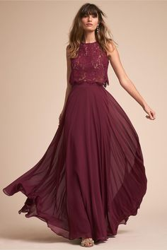 ere are some of our favorite red bridesmaid dresses, plus guidelines on where to shop for burgundy, rust, cinnamon, apple and wine bridesmaid dresses. Bridesmaid Skirt And Top, Wine Color Bridesmaid Dress, Bridesmaid Separates, Red Bridesmaids, Mismatched Bridesmaid Dresses, Burgundy Bridesmaid Dresses, Wine Dress, Chiffon Maxi, Classy Outfits