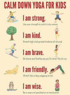 Kids calm down yoga