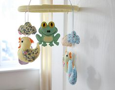 Duck Mobile childrens mobile  babys mobile READY TO by FlossyTots, £52.99