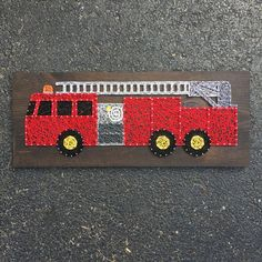 MADE TO ORDER String Art Firetruck Sign by TheHonakerHomeMaker