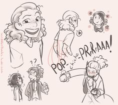I really liked the way Anthony wore his hair in one of his concerts and just had to draw it. Then I decided to include a rapping Laurens and a very starstruck Philip Hamilton for the soulgood...