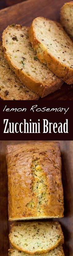 Wonderful zucchini bread! Sweet with hints savory from rosemary and lemon. A fun twist on a classic! On http://SimplyRecipes.com