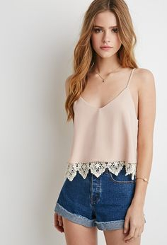 Crochet-Layered Cami | Forever 21 - 2000077876
