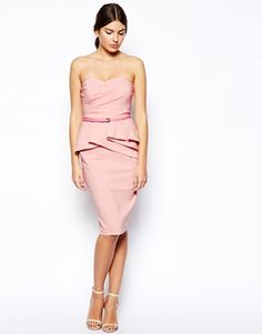 ASOS Belted Bengaline Pencil Dress  #weddingguestdress #weddingfashion #weddings