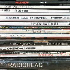 "344 Likes, 19 Comments - Au Wah Hei (@heihay) on Instagram: ""My all original pressing take on #recordspinechallenge  #radiohead #thebends #okcomputer #kida…"""