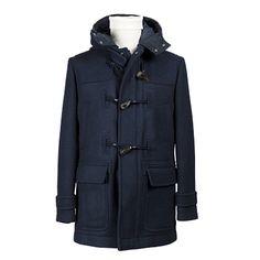 Giaccone montgomery uomo con cappuccio - Blu - Invernale. € 227,80. #hallofbrands #hob #jackets #coats #giubbotti #giaccone #invernale #wintry #winter