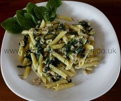 Penne with Sausage and Spinach - Simply Pasta Recipes Simply Pasta Recipe, Spinach Pasta Recipes, Different Recipes, Penne, Pasta Dishes, My Recipes, Delish, Sausage, Chicken