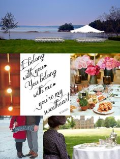 Our wedding theme is 'Downton Abbey meets a Lumineers music video'. We're getting married on July 12 at Wolfe's Neck Farm, where I grew up. We want our wedding to have a community, organic feel so we're using many vendors from the local area, including two of my former middle school teachers who are growing flowers for the wedding party!  In addition to the field (pictured here), guests will be transported via boozey wagon hayrides to the Mallet Barn, where we'll dance the night away!