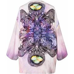 Louise Coleman - Memento Mori Kimono (770 CAD) ❤ liked on Polyvore featuring intimates, robes and kimono robe