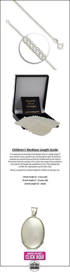 Para niños de plata de ley de cuatro vías dekowunder sobre la acera collar colgante Oval  ✿ Joyas para niñas - Regalos ✿ ▬► Ver oferta: https://comprar.io/goto/B0090T51PQ
