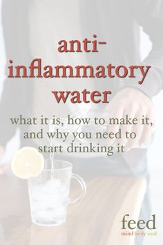 Anti-inflammatory water recipe: Proper hydration is paramount to good health. My anti-inflammatory water recipe takes water to the next level by including turmeric, ginger, lemon, cayenne, and raw apple cider vinegar. Natural Remedies For Arthritis, Natural Sleep Remedies, Natural Cures, Cold Remedies, Homeopathic Remedies, Health Remedies, Anti Inflammatory Foods List, Anti Inflammatory Smoothie, Best Nutrition Food