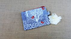 Small Wallet / ID Wallet / Keychain  Wallet / ID Holder with Zippered ID Window Pocket by BonnieCustomCreation on Etsy