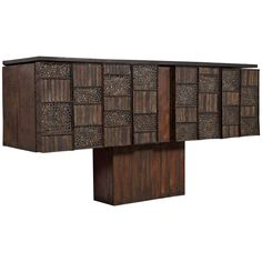 Early Paul Evans Studio Cabinet, circa 1963 | From a unique collection of antique and modern cabinets at https://www.1stdibs.com/furniture/storage-case-pieces/cabinets/