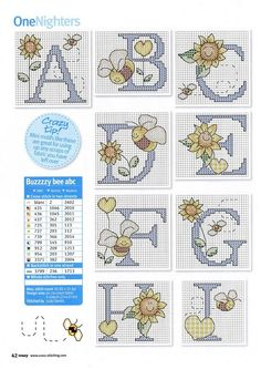 Cross-stitch Buzzzy Bee ABCs, part 1.. with color chart..   Gallery.ru / Фото #23 - Cross Stitch Crazy 129 - WhiteAngel