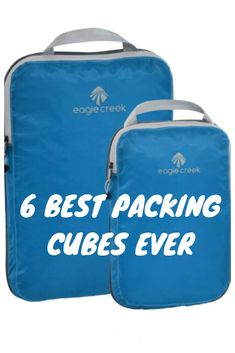 The Best Packing Cubes: We've rounded up six of the best packing cubes out there, with options—including tear-resistance, waterproofing, and space-saving functions—to suit every kind of traveler. Best Packing Cubes, Packing Tips, What To Pack, Space Saving, Lunch Box, Suit, Travel, Viajes, Bento Box