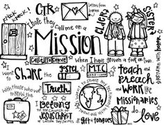 Melonheadz LDS illustrating: freebies missionary coloring page