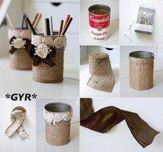 Ideas geniales para darle una segunda vida a las típicas latas de conserva que todos tenemos en el armario.