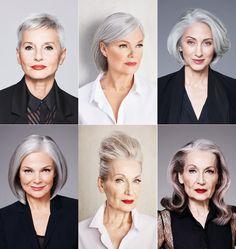 Frisuren für graue Haare
