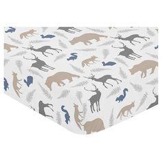Sweet Jojo Designs Fitted Crib Sheet - Woodland Animals : Target