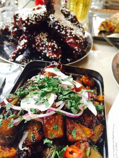 Eating out in Liverpool: Mowgli Street Food is our absolute favourite. Real Indian food with so much flavour and creativity.