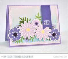 Large Desert Bouquet, Birthday Greetings, Desert Bouquet Die-namics, Fishtail Flags Layers STAX Die-namics, Wonky Stitched Rectangle STAX Die-namics - Debbie Olson  #mftstamps