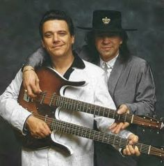 Brothers Vaughan :-)..Jimmy & the Late Stevie Ray Vaughan...