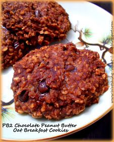 Watching What I Eat: PB2 Chocolate Peanut Butter Oat Breakfast Cookies