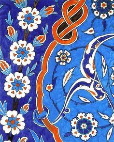 Traditional Turkish İznik Tile
