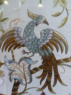 Jacobean Embroidery, Embroidery Patterns, Needlepoint, Rooster, Applique, Birds, Japan, Traditional, Stitch