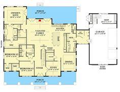 floor Plans Design - Plan Farmhouse Plan with Optional Garage Loft. Farmhouse Bedroom Decor, Farmhouse Interior, Farmhouse Plans, Rustic Farmhouse, Farmhouse Design, Farmhouse Style, Farmhouse Architecture, Farmhouse Furniture, Dream House Plans
