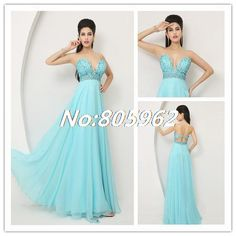 Find More Evening Dresses Information about 2014 Long Evening Dresses Blue Crystal Prom Dresses Beaded Sweetheart Backless Chiffon Celebrity Party Gowns Dresses 2014 R84,High Quality Evening Dresses from Suzhou Romantic Wedding Dress Co. Ltd on Aliexpress.com