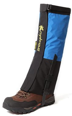 ChezMax Unisex Double Sealed Velcro Zippered Closure TPU Strap Waterproof Leg Gaiters Leggings Wrap for Skiing Snowboarding Hiking Climbing *** Learn more by visiting the image link. (This is an Amazon affiliate link)