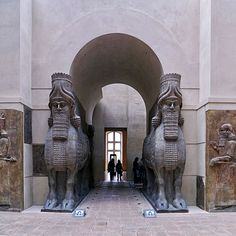 The Lamassu: A protective deity from Mesopotamian culture, the human headed, winged lion-esque creature guarded palace gates and was adopted as a royal kingly symbol by the Assyrians. The first two pictures are from the Metropolitan Museum of Art in New York City, March 2013. They stood guard at the palace at Nimrud, built by Ashurnasirpal II in ...