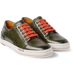 Berluti - Playtime Burnished Leather Sneakers | MR PORTER