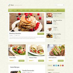 Petit is a theme full of features, enough to be used for a variety of purposes, but especially for a recipe website. It includes a big featured area and a carousel that makes your homepage look like more than a blog.