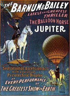 balloon/circus poster in lo's nursery