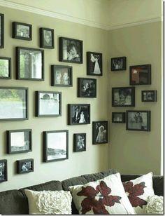 Fotos de família na parede