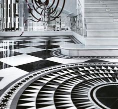 Sicis :: Black & White Cosmati #SICIS #Mosaic SO COOL!!! Why does it make me think of Alice In Wonderland??