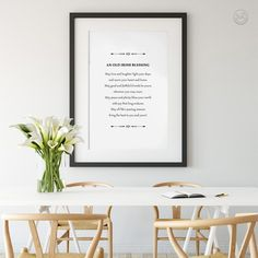 Old Irish Blessing, Irish Prayer, Printing Services, Online Printing, Shape Posters, Irish Quotes, International Paper Sizes, Art Classroom, Art Wall Kids