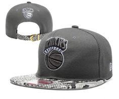 the best attitude 8c440 98308 Casquette NBA New York Knicks Snakeskin Snapback Gris Casquette New Era Pas  Cher