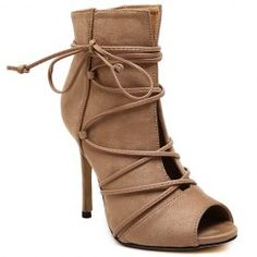 Trendy Lace-Up and Peep Toe Design Pumps For Women