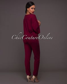 Chic Couture Online - Natori Wine Red Destroyed Pants Set, $65.00 (http://www.chiccoutureonline.com/natori-wine-red-destroyed-pants-set/)