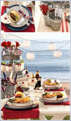 #party by the sea, #red + #white are perfect for this occasion!