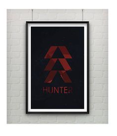 Hey, I found this really awesome Etsy listing at https://www.etsy.com/listing/196656514/destiny-video-game-art-hunter-class