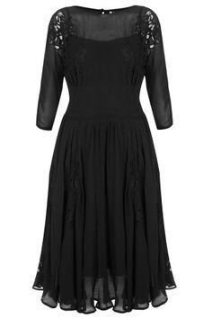 Applique Lace Midi Dress
